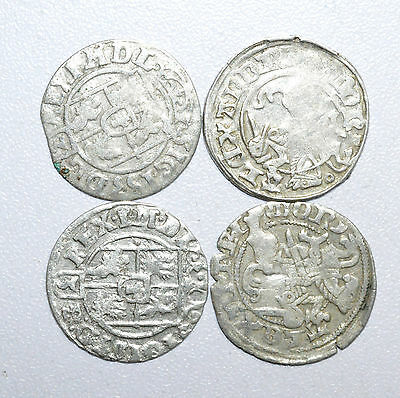 Scarce Lot Of 4  Medieval Silver Hammered Coins - Great Details - Z211