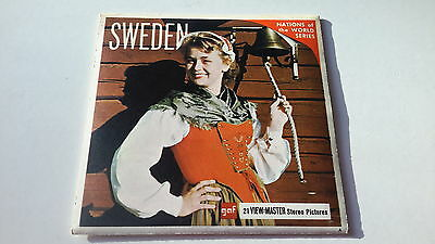 Viewmaster three reel set 3d SWEDEN gaf Nations of the World