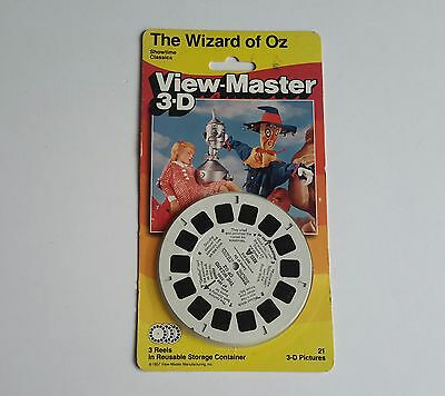Viewmaster three reel carded packet set 3d WIZARD OF OZ  Sealed unopened card