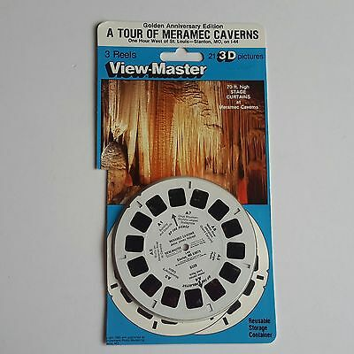 Viewmaster three reel carded packet set 3D TOUR OF MERAMEC CAVERNS