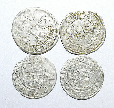 Stunning Lot Of 4  Medieval Silver Hammered Coins - Great Details - Z214