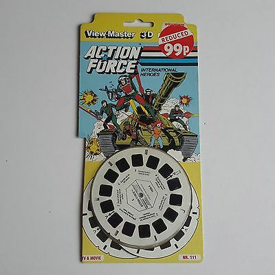 Viewmaster three reel carded packet set 3D ACTION FORCE