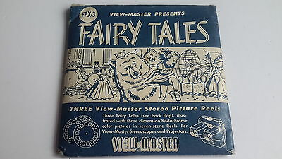 Viewmaster packet set 3d FAIRY TALES blue cover