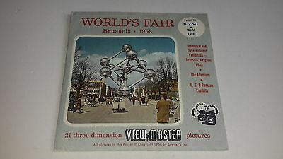 Viewmaster  3D WORLD'S FAIR 1958 BRUSSELS SET OF 6 THREE PACKS