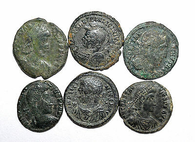 Lovely Lot Of 6 Ancient Roman Bronze Coins For Cleaning - Premium Quality ! Z217