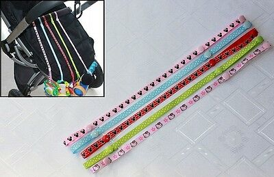 Baby Toy Holder Straps with Button Clasps Anti Lost Belt