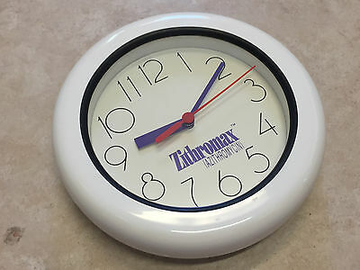 Zithromax Azithromycin Pharmaceutical Drug Advertisement Promo Gift Clock NR!