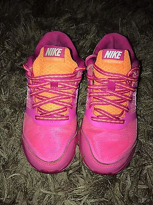 Womens Nike Dual Fusion Lite Running Trainers Size 3 Pink & Orange