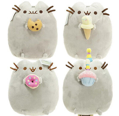 """10"""" Pusheen with Cookie Plush Toy Stuffed Animal Children Toy Doll Pillow New"""