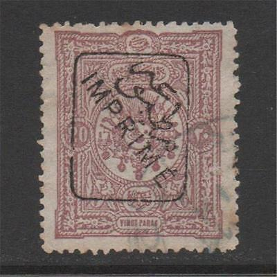 Turkey 1892 Sgn151 Imprime Used Cat £450