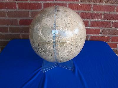 "Vintage Mid Century Modern 12"" Rand Mcnally Lunar Moon Globe With Base"