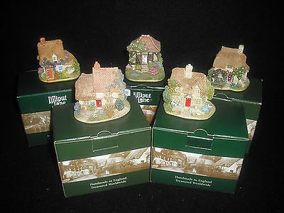 Lilliput Lane Collection Of 5 Cottages Boxed With Deeds