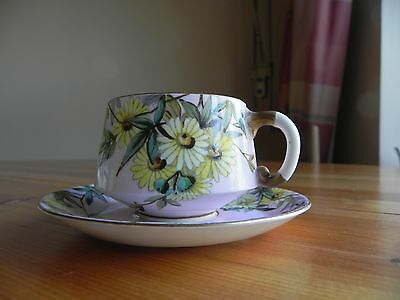 E J D BODLEY  bone china  Cup and Saucer  C 1880