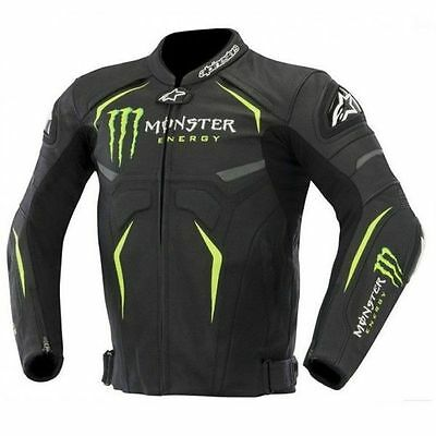 Motorbike Motorcycle Monster Racing Leather Jacket (in all size)Honda Yamaha