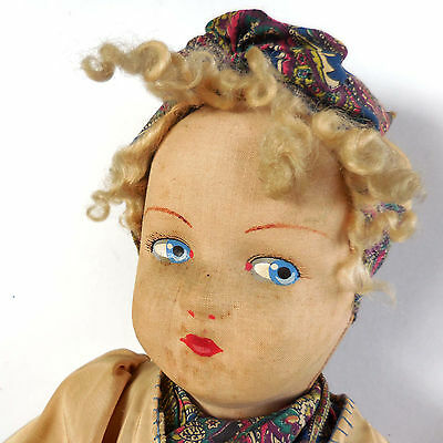 "20""  ALL ORIGINAL, 1924, American Cloth Doll (Trilby?) in Great Condition"