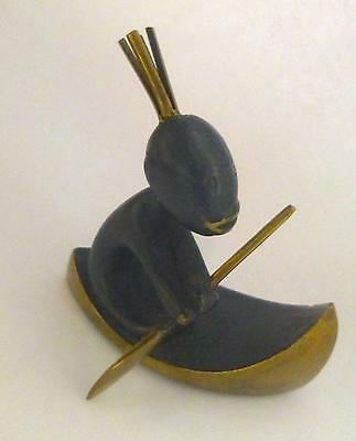 Hagenauer Bronze Figure of an African Child in a Canoe