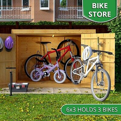 Wooden Bike Storage Shed Garden Bicycle Store Tools Patio Cabinet Box Outdoor