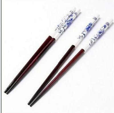 Gift Pack of 1 set/5 Pairs plum blossom magpie pattern Bamboo Cutlery Chopsticks