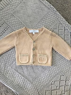 Baby Knitted Cardigan 3months Beige/nude Colour Unisex