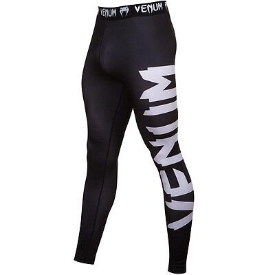 Venum Giant Compression Leggings - Black - Spats Grappling Training