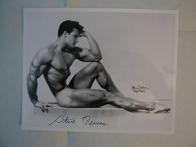 Superbe Photo Dedicacee De  L'acteur    Steve  Reeves