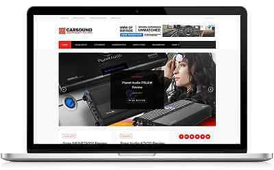 Car Audio Business Website with integrated Affiliate Shop - For Sale