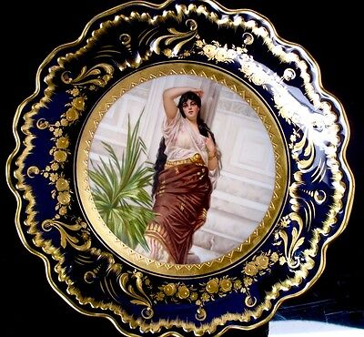 Antique 19th C. Royal Vienna Centerpiece / Compote by Dittrich