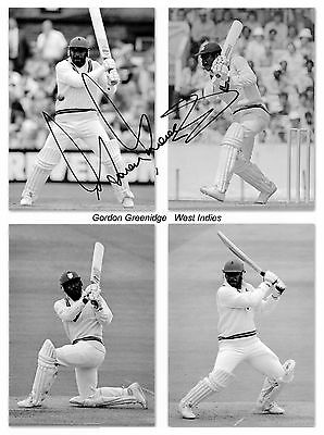 Gordon Greenidge West Indies Cricket Hand Signed Photo Authentic Genuine + Coa