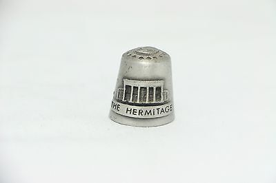 """the Hermitage"" ""home Of Andrew Jackson"" Pewter Thimble"
