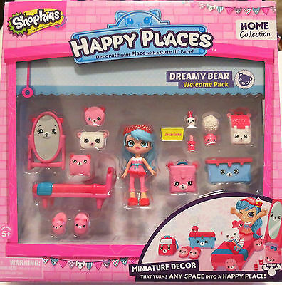 New Shopkins Happy Place Home Collection Dreamy Bear Welcome Pack Free Shipping