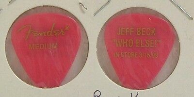Jeff Beck - Old Jeff Beck Who Else Promo Guitar Pick