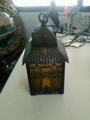 Arts & Crafts House Shaped Porch Pendant Lamp