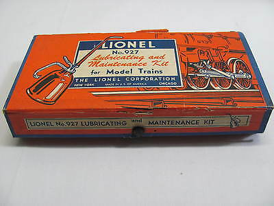 Lionel No. 927 Lubricating & Maintenance Kit For Model Trains 1953 Complete