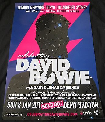 CELEBRATING DAVID BOWIE – original POSTER from theICONIC Brixtondate 8/1/2017!