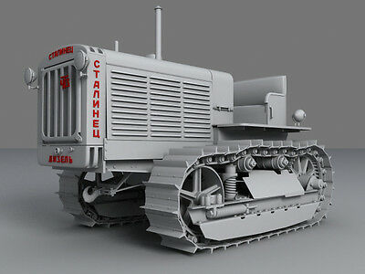 USSR tractor Stalinets-65. Hashette diecast model scale 1/43