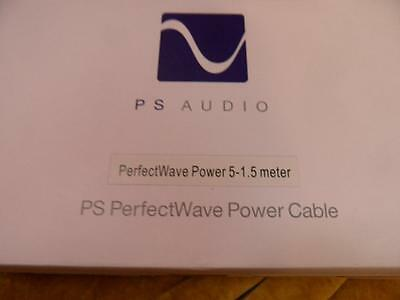 PS AUDIO AC5 1.5m power cable   UK TERMINATIONS,