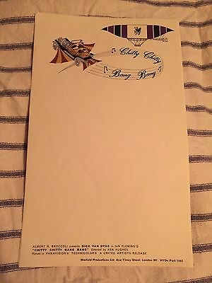 Chitty Chitty Bang Bang EON Original Unused Production Notepaper