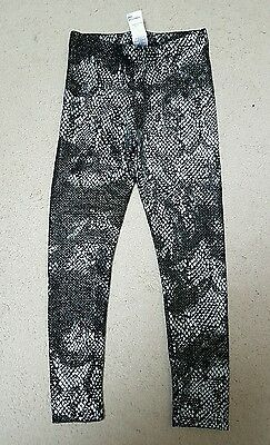 Girls Metallic Snakeprint Leggings Age 7