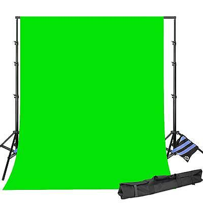 Photographic Air Cushioned Light Stands and Backdrop Support 8x12ft w/ChromaKey