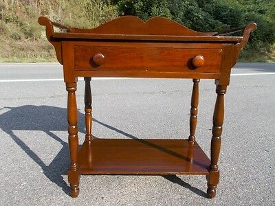 Antique Sheraton Washstand with Towel Bars ~ near Wintergreen, Central Virginia