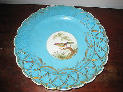 OLD SEVRES PLATE RALE DE CAYENNE old revited repair