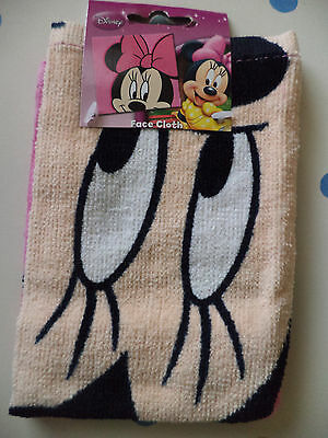Disney Minnie Mouse Face Cloth - New & Tagged Novelty Kids Gift