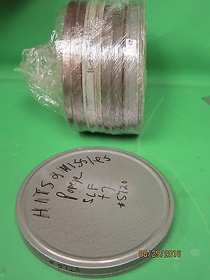 16mm Empty Metal Film Reel Cans 400ft  capacity lot of 5 pieces!