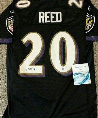 *Ed Reed* Signed Reebok On Field Baltimore Ravens Jersey COA Hologram Auto