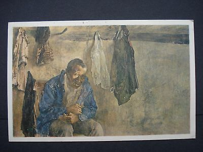 Used Colour Post Card 'A Crow Flew By' a painting by Andrew Wyeth