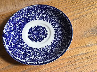 Woolworth's blue and white Fibre saucer Early 20th Century