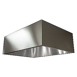 DAYTON 430 Stainless Steel Commercial Kitchen Exhaust Hood,SS,72 in, 20UD12