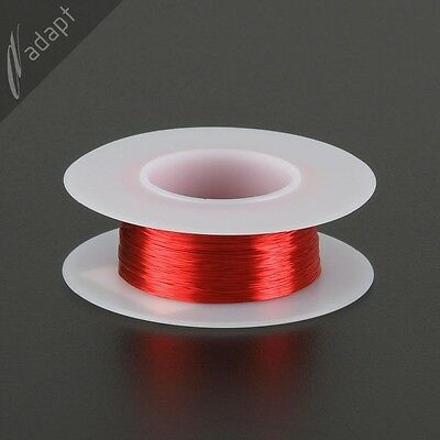 32 AWG Gauge Magnet Wire Red 306' 155C Solderable Enameled Copper Coil Winding S