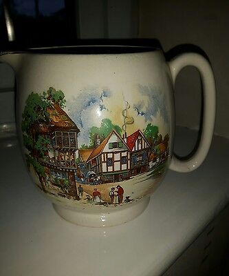 Sandland ware Large Jug with Down somerset way picture
