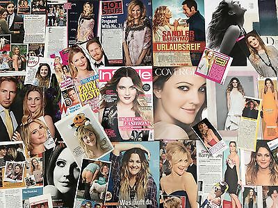 DREW BARRYMORE SAMMLUNG 200+ Clippings LOT POSTER 1983-2016 RARE & SEXY E.T.